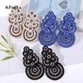 FLDZ New Fashion Soutache Big Drop Earring Jewelry Crystal Decoration Handmade Earring Ethnic Style boucle d'oreille femme 2018
