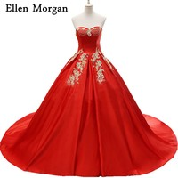Red Elegant Quinceanera Dresses 2017 Real Pictures Sexy Sweetheart Ball Gowns Beading Sweet 15 16 Cheap Corset Prom Gowns
