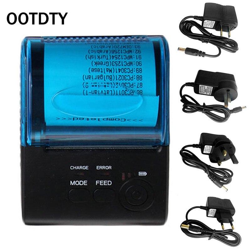 Ootdty zj-5805 Bluetooth 4.0 Android 4.0 pos получения Портативный Термальность принтер Билл Машина для супермаркета EU/US /Великобритания Plug ...