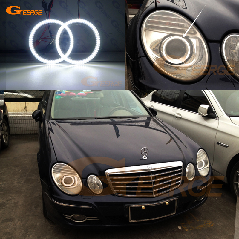 For Mercedes Benz e class w211 E200 E220 E270 E280 E320 E420 CDI 2003-2009 Excellent Ultra bright smd led Angel Eyes kit DRL
