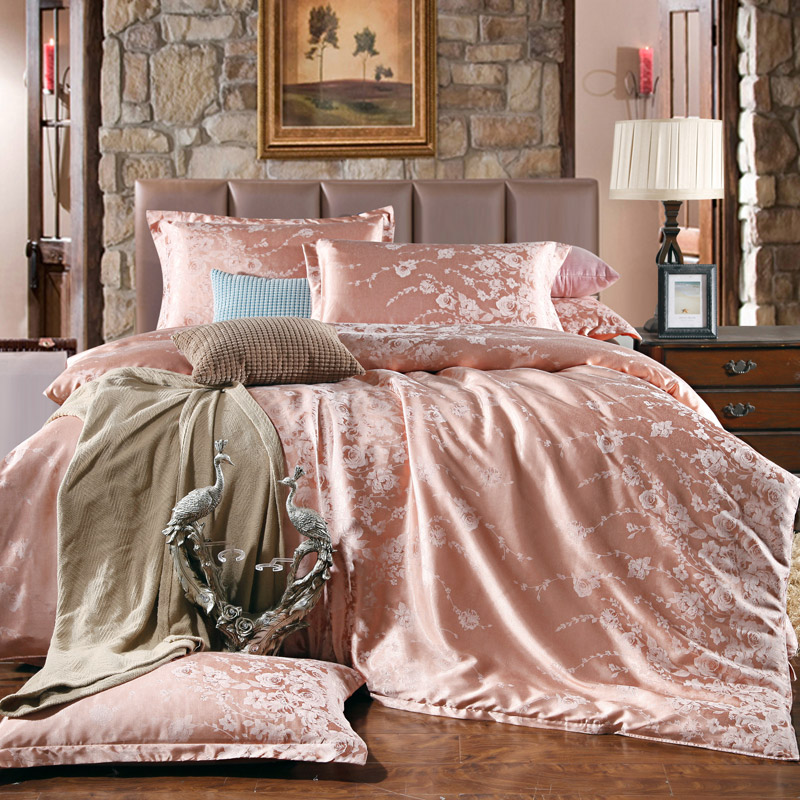 Popular pink satin baby bedding buy cheap pink satin baby for Housse de couette king size