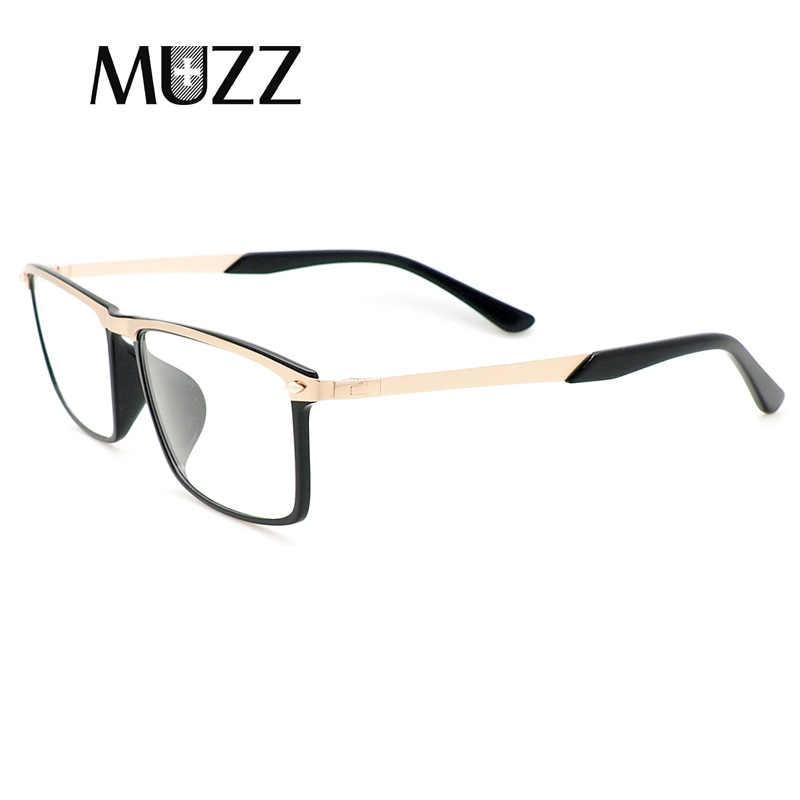 c5ca840f4a169 ... Men TR 90 Eyeglasses Frame Brand Prescription Glasses Frames Alloy Glasses  Frame Men Myopia Eye Glass ...