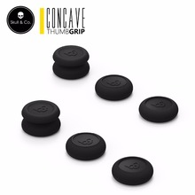 Skull & Co. Skin CQC FPS Thumb Grip Set Joystick Cap Thumbstick Cover for PS4 Nintendo Switch Pro Controller