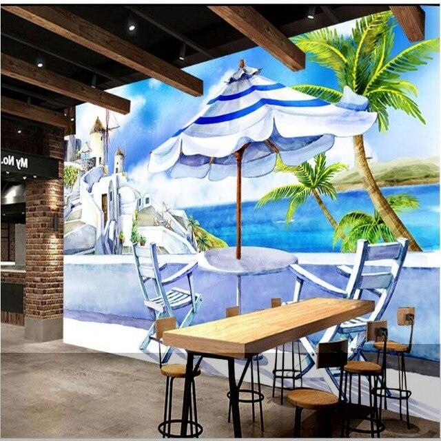 Beibehang Benutzerdefinierte große fresko esszimmer hintergrund ...