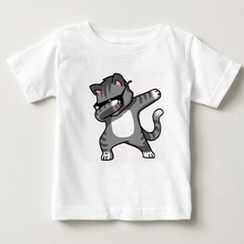 Children Dabbing Unicorn Cartoon Funny T shirt Kids Rabbit/Cat/Panda/Dog Summer Tops Baby Girls Boys Clothes 2-15Y