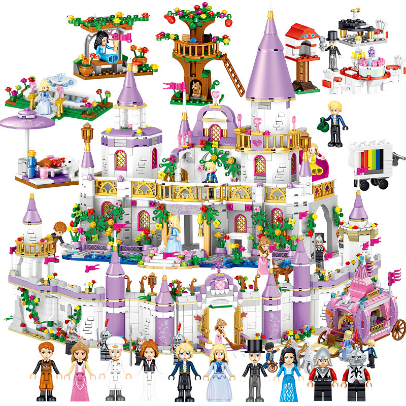 Princess Windsor Castle Girl Series Assembled Building Blocks Children Toys Compatible Legoings Friends Sets Christmas Gifts