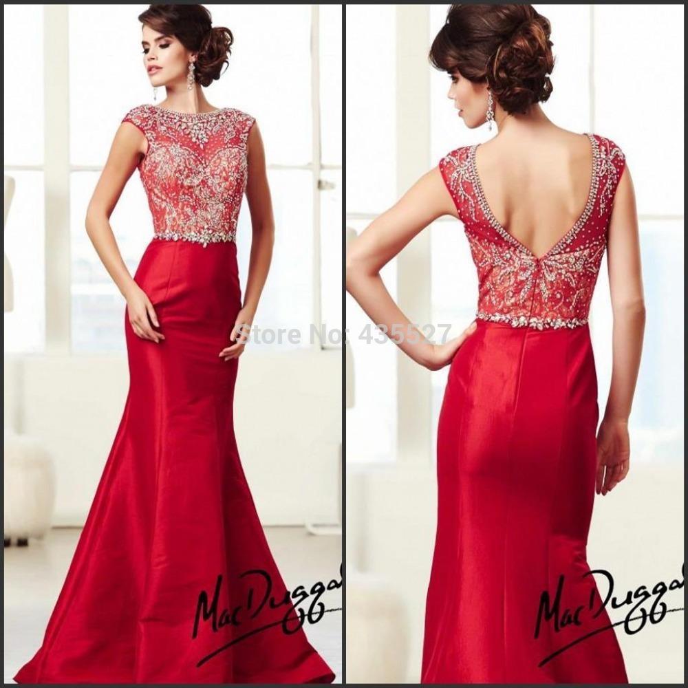 Venta de vestidos de noche rojos
