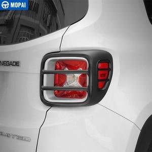 Image 4 - MOPAI cubierta protectora de Metal para faro trasero de coche, pegatina decorativa para Jeep Renegade 2015, accesorios exteriores, decoración para coche