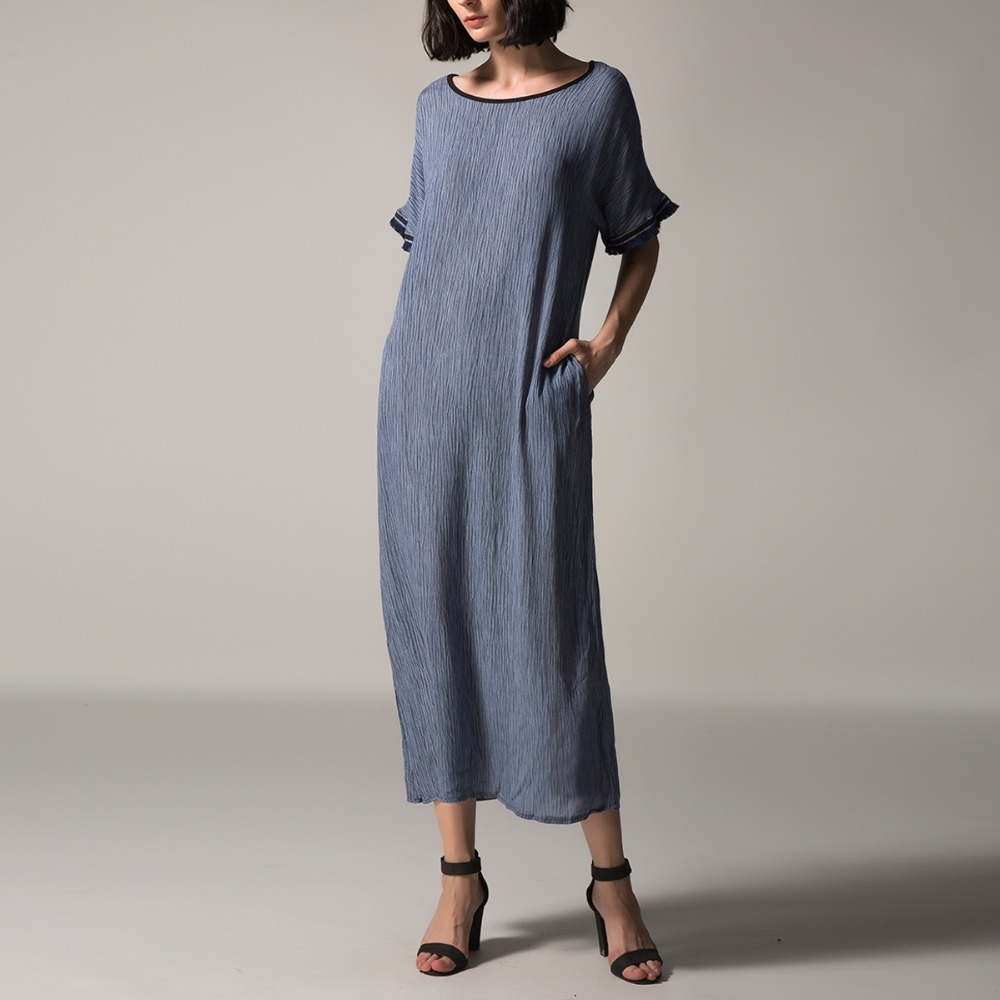 S-5XL Women Summer Dress Plus Size O-neck Short Sleeve Long Maxi Dresses Oversized Casual Loose Holiday Party Vestidos Large