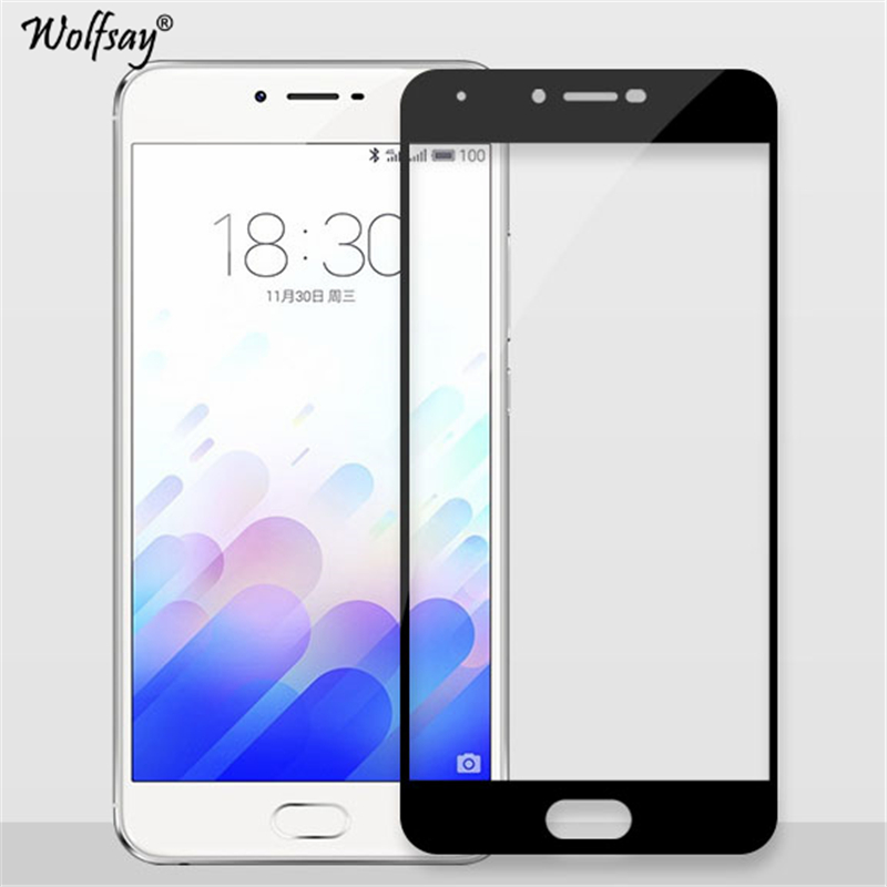 sFor Tempered Glass Meizu M3X Screen Protector 2.5D Curved Full Cover Glass For Meizu M3X Glass For Meizu Meilan X Film Wolfsay