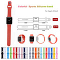 Silicone Colorful 38/42mm WatchBand With Connector Adapter For Apple Watch Strap For  iWatch Sports Buckle Bracelet Series 1/2