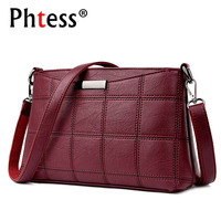 Retro Leather Vintage Shoulder Bags For Ladies 2017 Crossbody Bags For Women Luxury Brand Sac A
