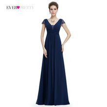 96ea8803220  Clearance sale  Ever Pretty Evening Dresses V-neck Navy Blue Lace A-line  Mother of the Bride Dresses Modest Party Dress 08787