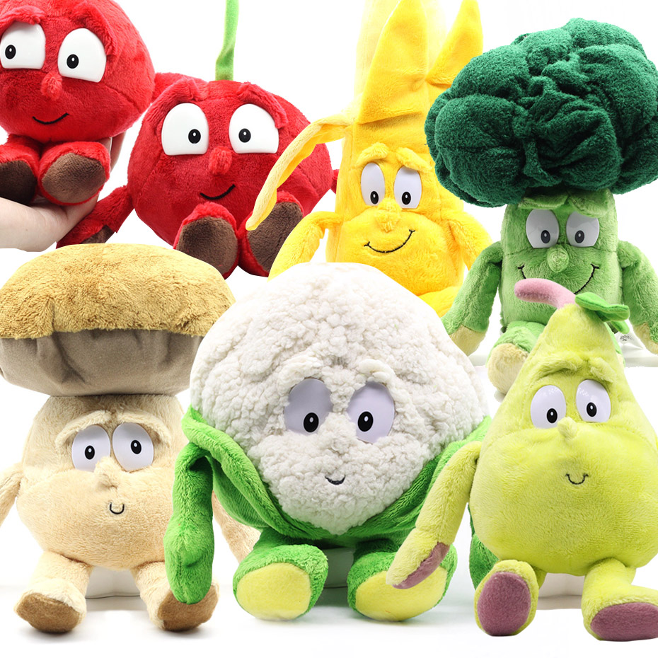 Free Freight Fruits Vegetables cauliflower Mushroom blueberry Starwberry 9 Soft Plush Doll Toy Goods In Stock цена