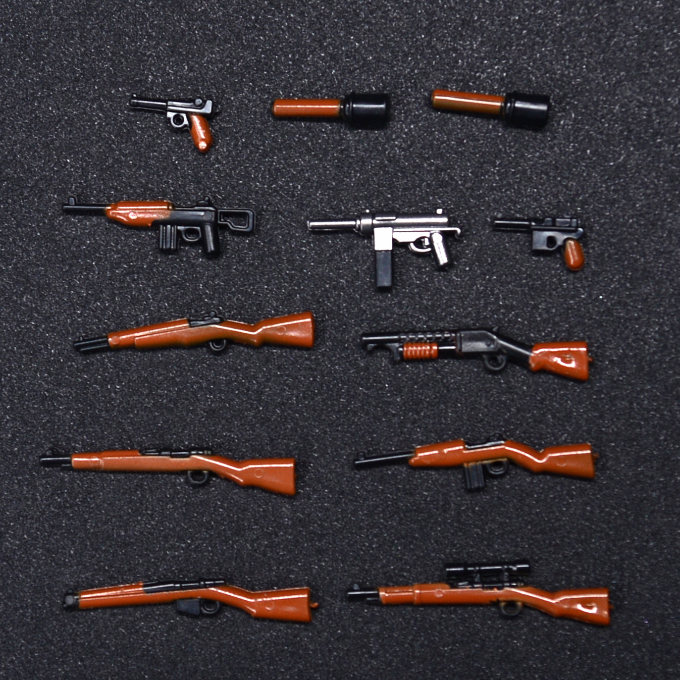 moc Military World War 2 weapon Army soldiers City SWAT Building Blocks Toys for children