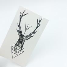 5pcs Deer Fashion Temporary Tattoo Stickers Temporary Body Art Waterproof Tattoo Pattern HC193