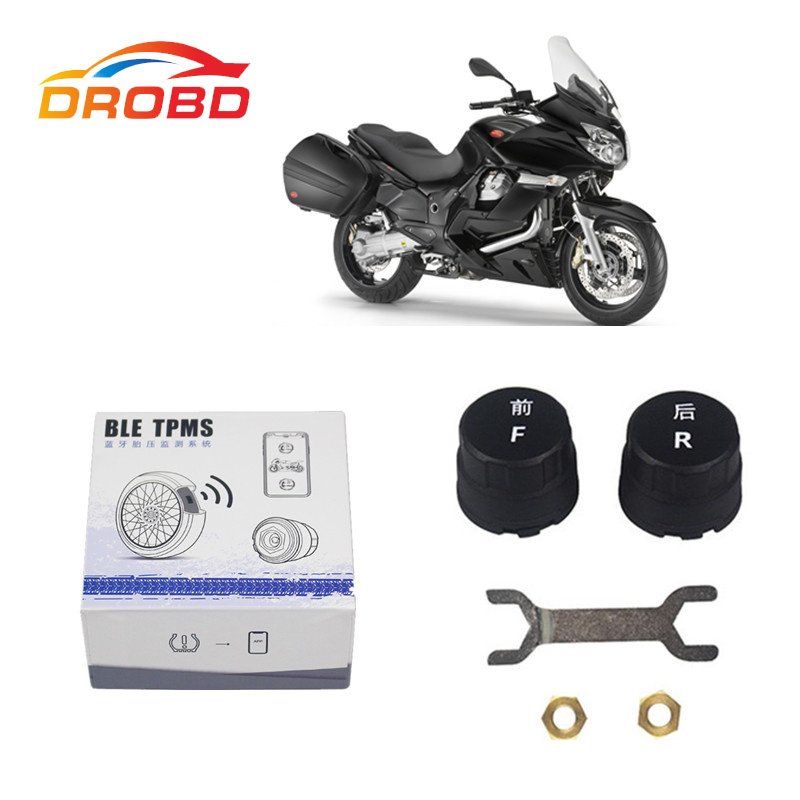 New MOTO TPMS Tire Pressure Monitoring System For Motorcycle Bluetooth 4.0 With 2 External Sensors For IOS / Android motocare