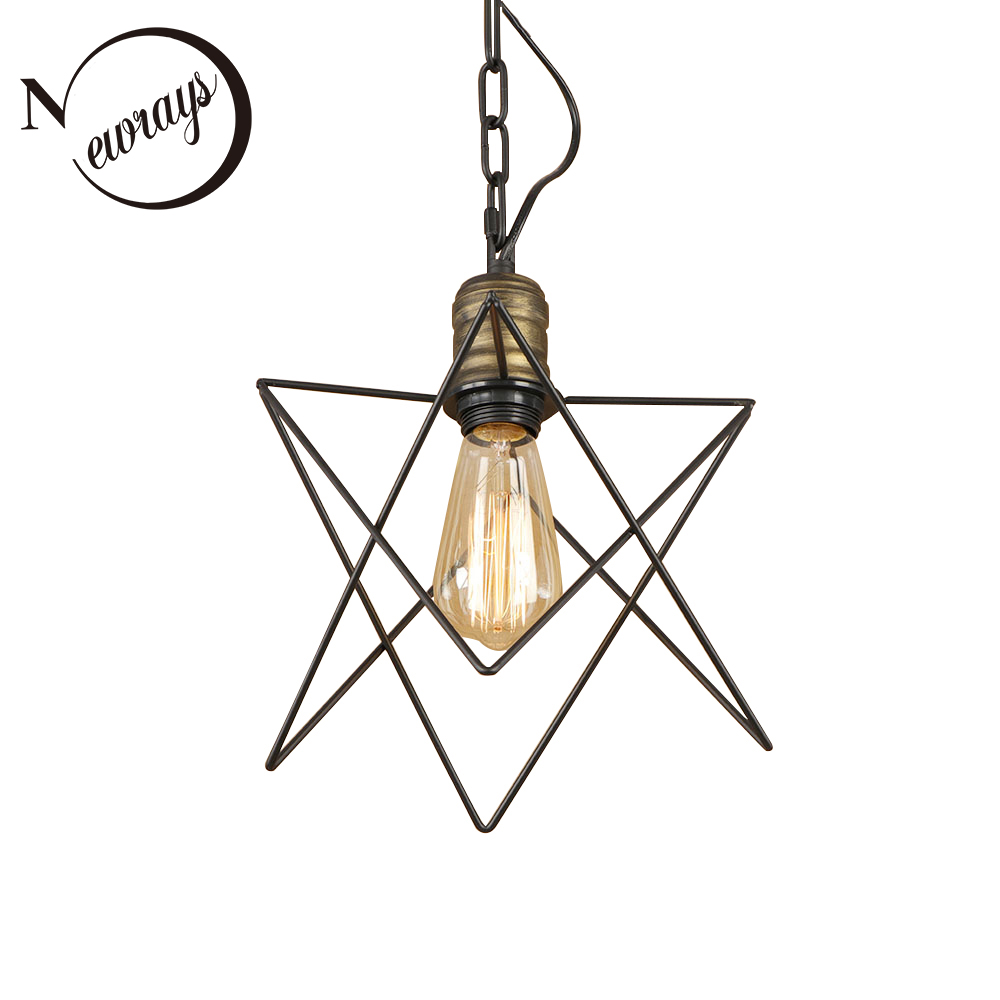 Vintage iron painted creative irregular pendant Light Fixture E27 LED 220V hanging lamp for kitchen bedroom dining room cafe bar vintage colorful minimalist cement hanging pendant lamp 220v e27 led light with switch lighting fixture for hallway bar bedroom