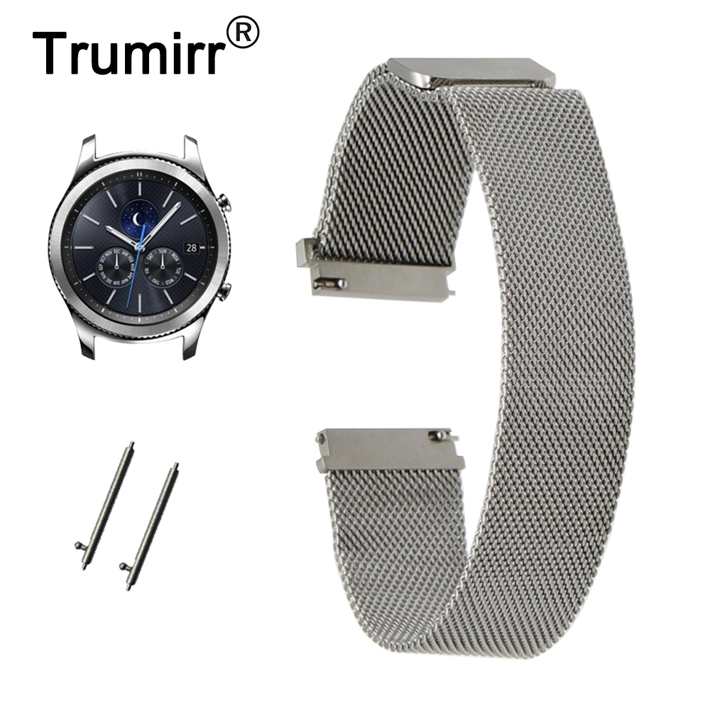TRUMiRR Watchband Milanese Loop Strap for Samsung Gear S3 Frontier R760 / Classic R770 Magnet Watch Band Quick Release Bracelet 6000 2rs sealed deep groove ball bearing 10mm inner dia black silver tone