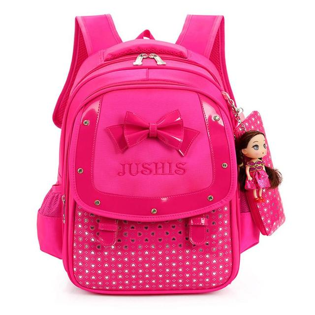 46744ffbed0d Cute Baby Girls Backpack Kids Bowknot Heart Dot Backpack Toddler School Bag  Rucksack Schoolbag Satchel Book Bag Drop Ship  T