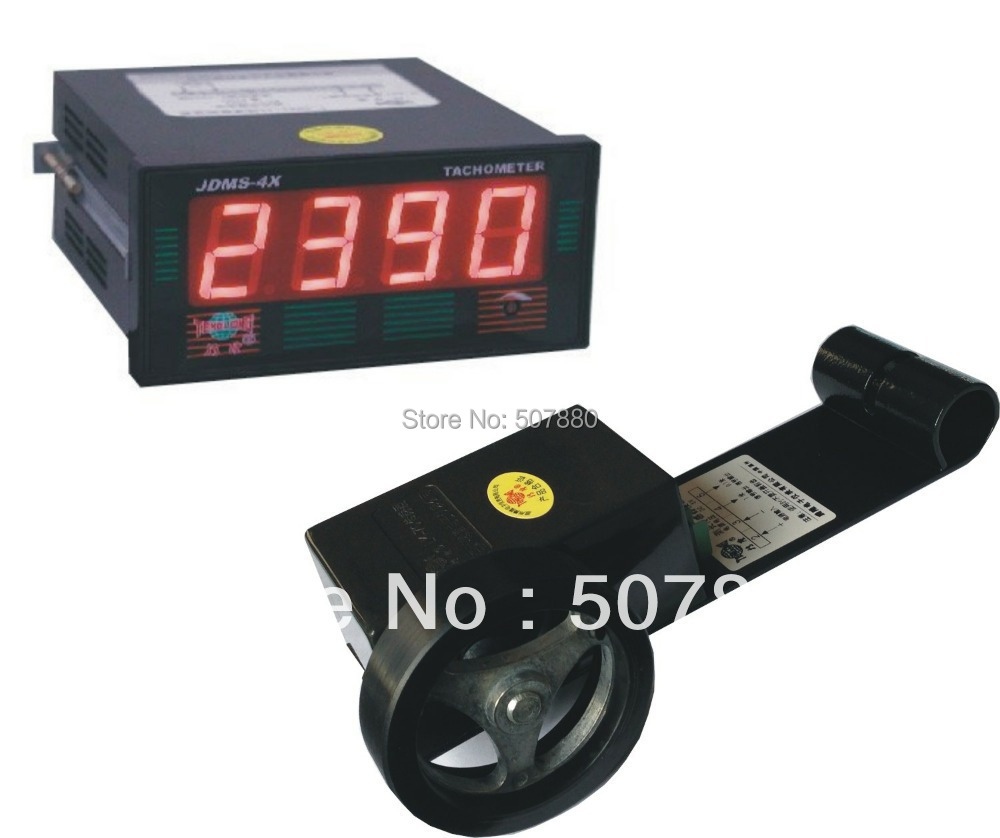 JDMS-4HDZ+LK-70 LED digital tachometer rpm speed meter and speed counter digital led punch tachometer rpm speed meter 5 9999rpm tacho gauge hall proximity switch sensor 12v 8 15v red