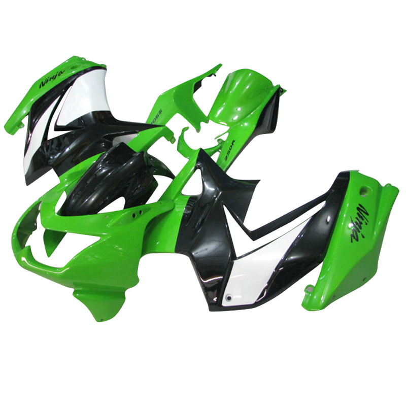 купить Body repair motor fairings kit for Kawasaki 2008 2012 2014 Ninja 250 EX250 08 10 14 ZX250R green black injection fairing kits по цене 23083.79 рублей