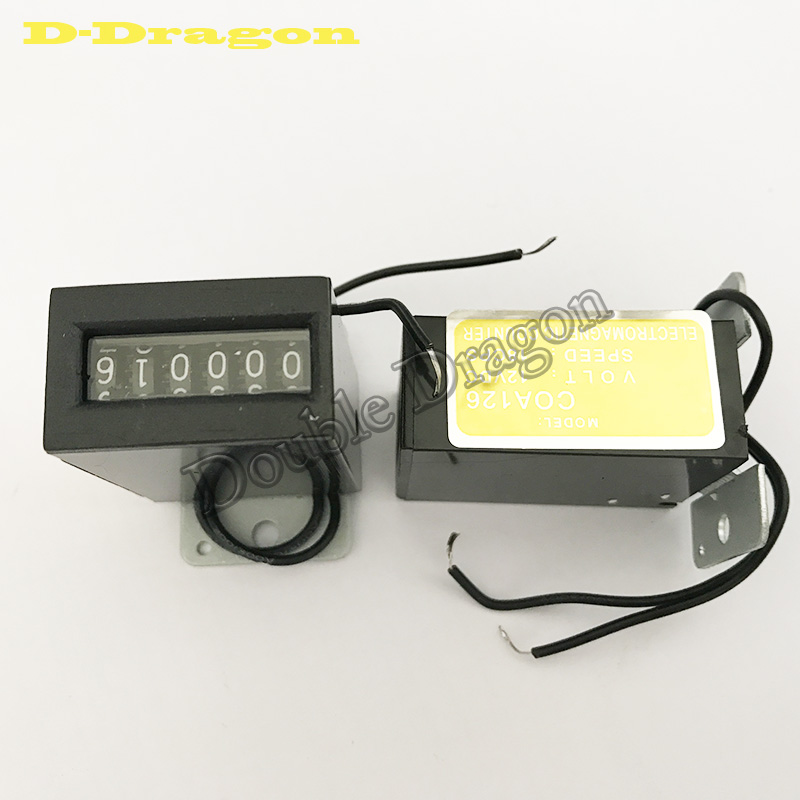 1 Pcs Free Shipping Arcade 6 Digits 12V Mechanical Coin Counter Meter For Coin Acceptor Operated Vending Machines
