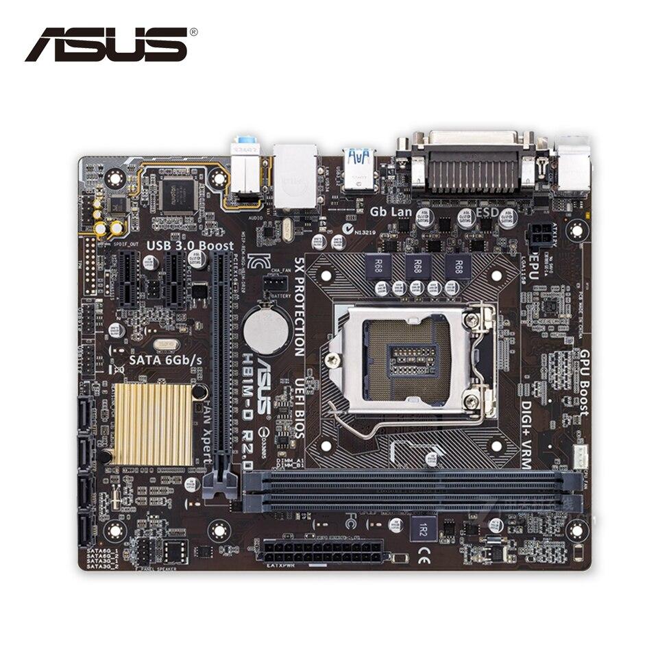 Asus H81M-D R2.0 Original Used Desktop Motherboard H81 Socket LGA 1150 i7 i5 i3 DDR3 16G SATA3 Micro-ATX asus maximus vii ranger desktop motherboard m7r z97 socket lga 1150 i7 i5 i3 ddr3 32g sata3 atx second hand high quality