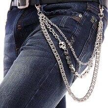 New Fashion Cross Pendant Gothic Rock Hip Hop Punk Metal Belt Waist Chain Men Trousers Chains Street Dance Accessories @  CX17