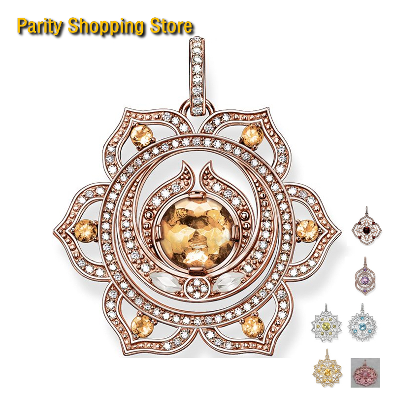 PT2595 Pendant – style Fashion Lotus Flower purple Pendant Special price original For Fashion Cute Necklace Diy charms