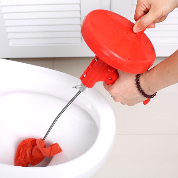 1 قطعة جديد تصميم المطبخ المرحاض المجاري انسداد اليد أداة الأنابيب الحفارة 5 متر مصارف نعرات أنابيب الصرف الصحي بالوعة تنظيف قباقيب J0761