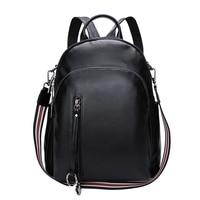 DANJUE 100% Soft Natural Genuine Cow Leather Shoulder Travel WoMen backpack FeMen Ladies Real Cowhide Bag Party backpacks