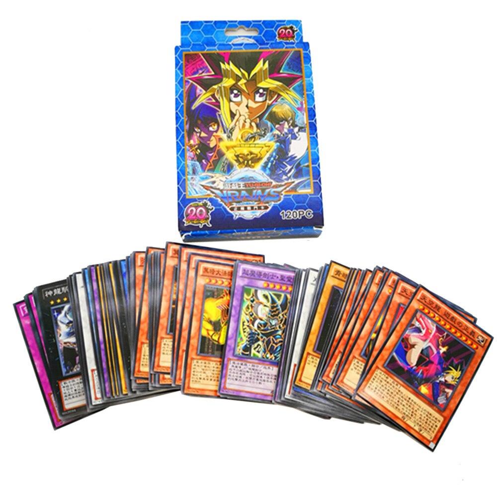 New 120PCS  Yu Gi Oh Game Cards Cartoon Yugioh Play Cards Japan Boy Girls Yu-Gi-Oh Cards Collection Fun Toys