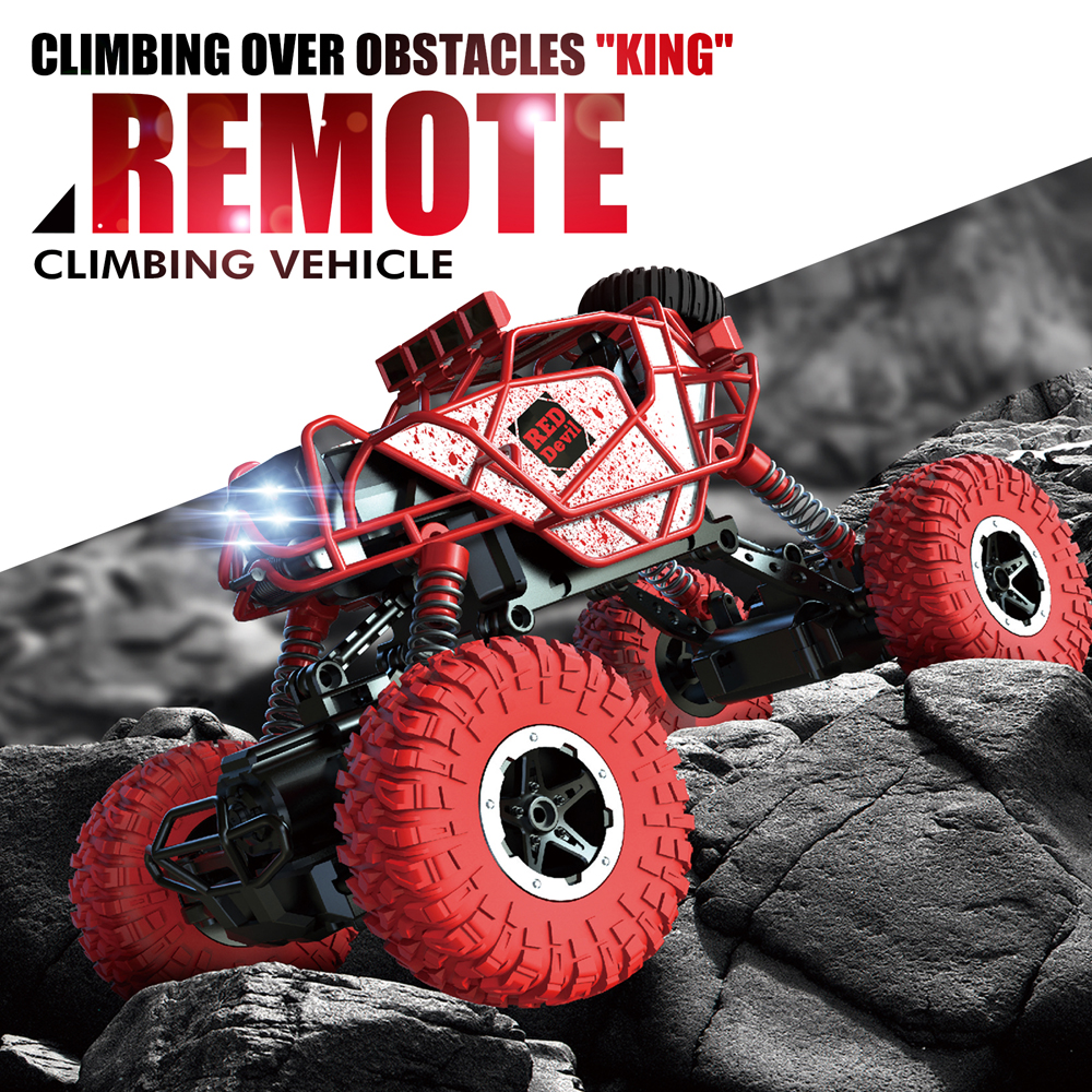 KEDIOR RC Car 4WD Remote <font><b>Control</b></font> Car Rock Climbing Car 4x4 Double <font><b>Motors</b></font> Off-Road Vehicle Bigfoot Toys for Boys Children image