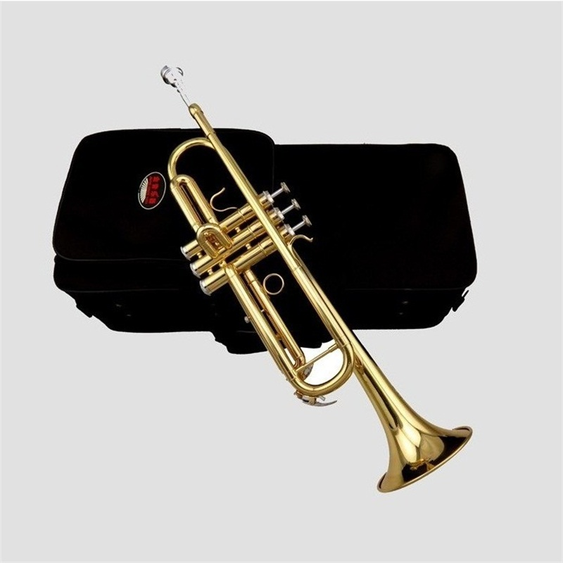 2017 New JINYIN JYTR-M100 professional Bb Trumpet Gold and silver beginners trompeta with mouthpiece and padded case hot sale brand new bach brass trumpet lt190gs 77 bb silver plated gold key trompeta profissional instrumentos case mouthpiece