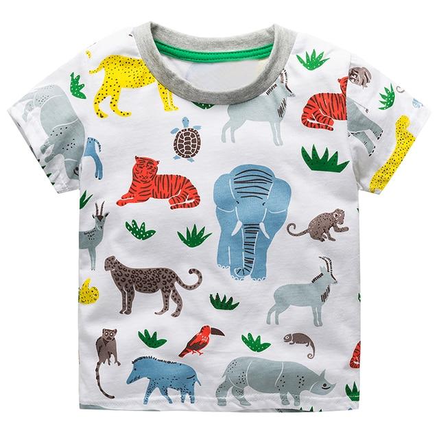 [simfamily] 2018 Children T shirts Boys Clothes Baby Boys Summer Tops Tee Shirts Fille Animal Print Kids T-shirts Boy Clothing