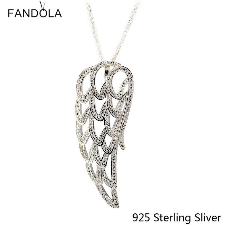 Original 925 en argent Sterling ajouré ange aile collier en argent convient pour collier pendentif à assembler soi-même pour les femmes cadeau