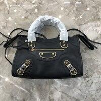 Индивидуальные высокое качество кожаная женская сумка из козьей кожи Золотой Аппаратные средства Наплечная пояса натуральной кож