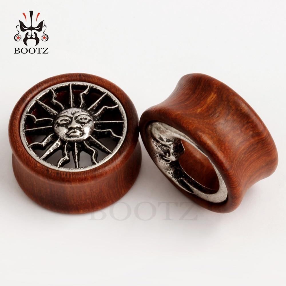 KUBOOZ 2PCS Ασύμμετρη Ξύλο αυτί Piercing - Κοσμήματα μόδας - Φωτογραφία 5