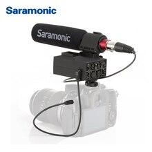Saramonic MixMic ружья видео микрофон со встроенным 2-х канальный XLR аудио адаптер для цифровых зеркальных фотокамер CANON NIKON камеры и видеокамеры