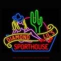 Sexy Diamante Lil Sporthouse Las Vegas Neon Sinal de luz Lâmpada de Néon Placa de sinalização sinais de néon Para Bar Tubo de Vidro Real Do Vintage 31x24