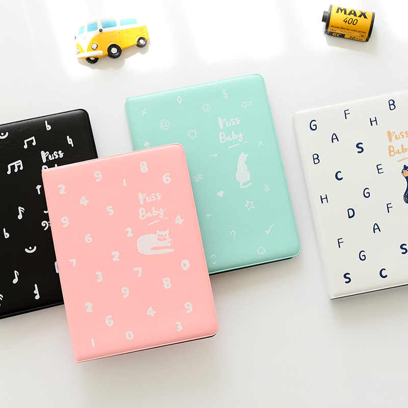 36 Pockets Cute Cat Photo Album Holder Candy Color Album for 6 Inch Mini Instax & Name Card Photo Album