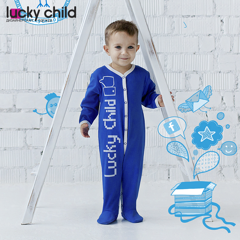 Jumpsuit Lucky Child for boys 9-1 Children's clothes kids Rompers for baby baby rompers 100