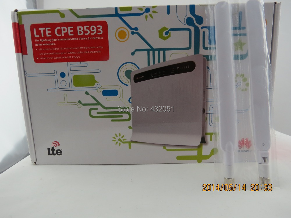 Free shipping+A pair of B593 External Antenna+4G LTE 100Mbps Huawei B593 LTE Mobile WiFi Router with 4LAN Port мини колонки a pair of 20 bose