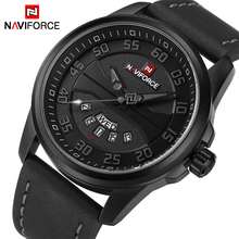 NAVIFORCE Mens Watches Top Brand Luxury Quartz Watch Men Leather Casual Sports Clock Men Army Military Watches Relogio Masculino