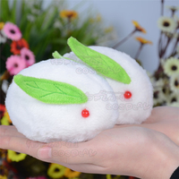 VOCALOID miku Snow Bell Lepus timidus bunny rabbit green doll lovely white toy cosplay accessory birthday gift Free Shipping