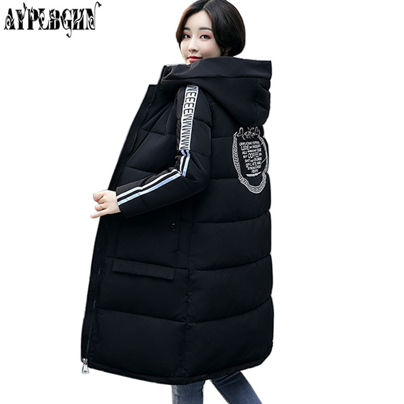 Winter Fashion Cotton Coat 2017 Female Slim Warm Hooded Parkas Female Overcoat High Quality Women Cotton padded Plus size Jacket wmwmnu women winter long parkas hooded slim jacket fashion women warm fur collar coat cotton padded female overcoat plus size