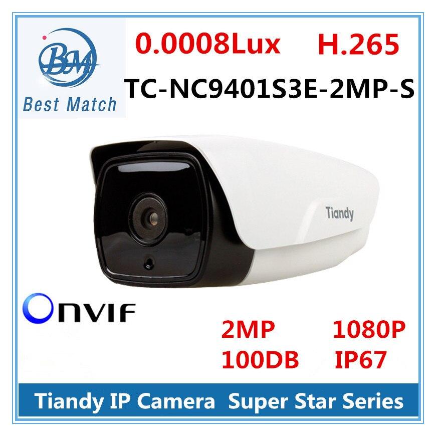 """bilder für Tiandy ip-kamera h.265 super star serie 1/2. 8 """"wasserdichten outdoor kamera 2mp 1080 p hd netzwerk feste fokus infrarot kamera"""