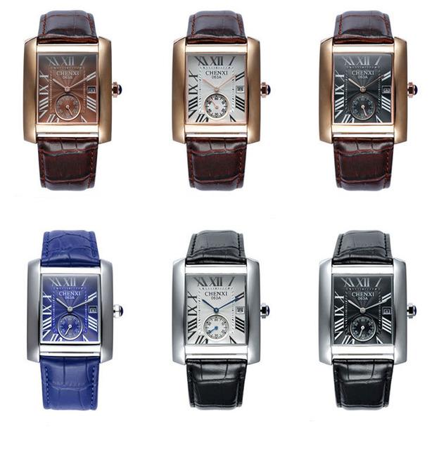 Men's Unique Rectangle Shaped Wristwatches
