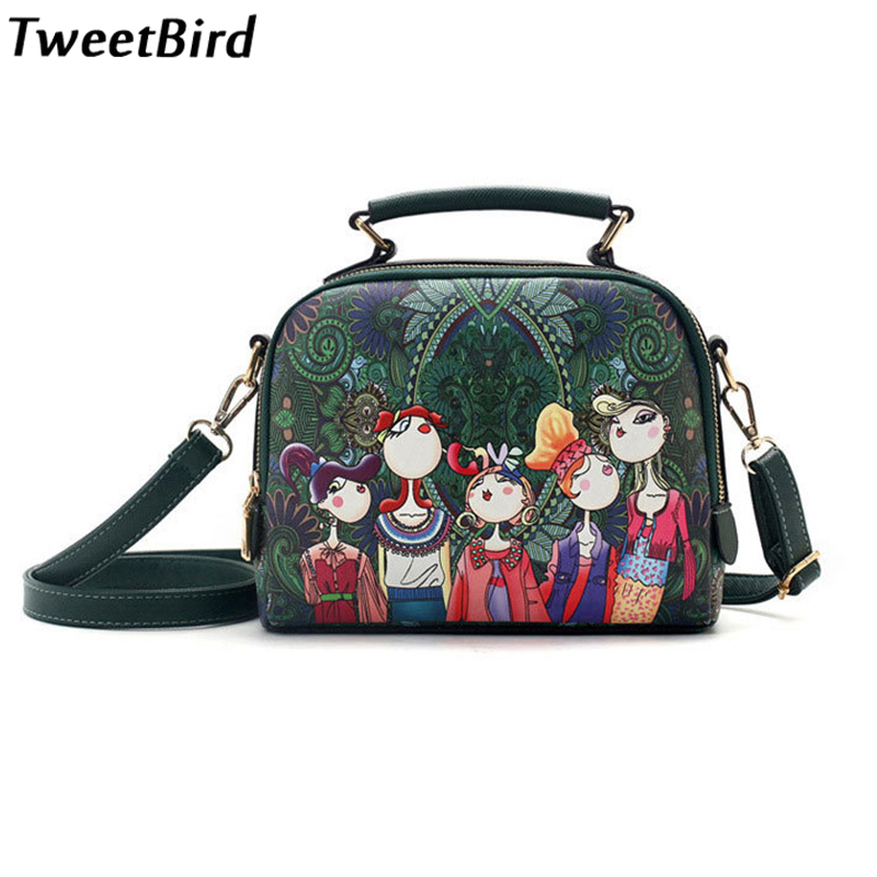 0386ec02c238 TweetBird Women Handbag Fashion Female Crossage Bags Casual Cartoon  Character Pattern Shoulder Bag Ladies Handbag bolsa